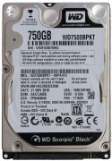 750Gb WD Scorpio Black 8Mb (WD7500BPKT) 7200rpm